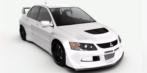 Mitsubishi Evolution 9 widebody concept